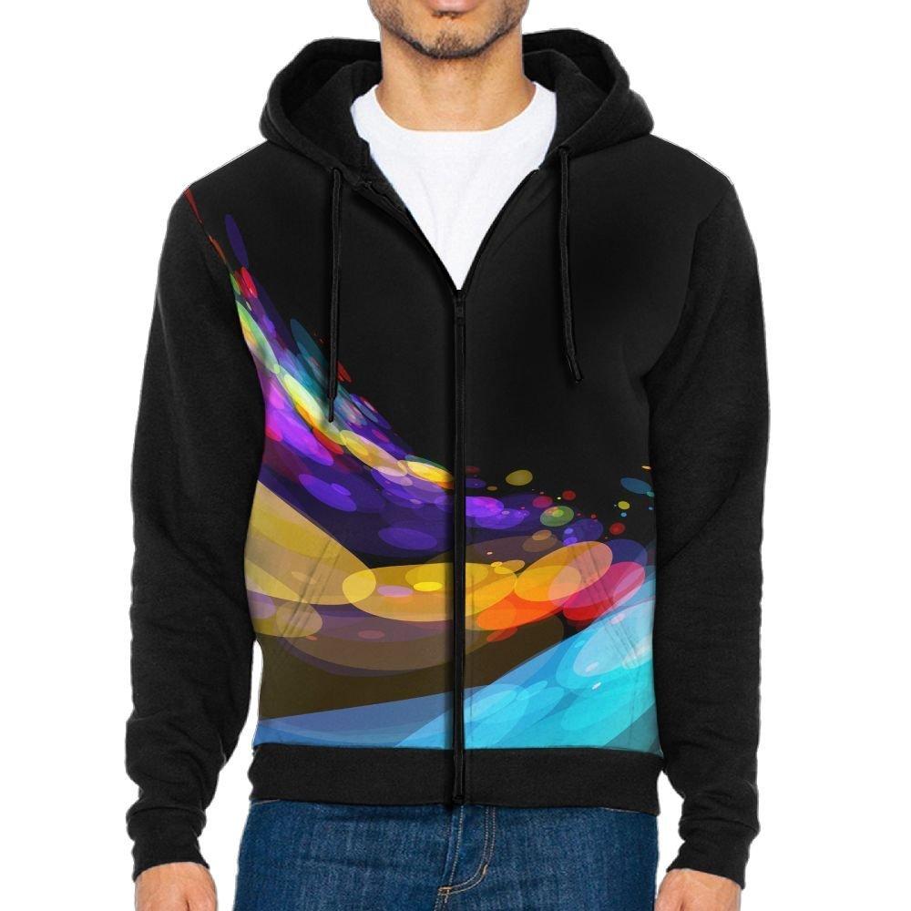Neon Circles Adult Popular Hooded Sweatshirt Outdoor Hoodies