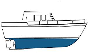 Copper Shield(tm) Royal Blue Quart - 45 Copper Ablative - Marine Paint Antifouling Bottom Paint - iPaint.us