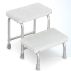 Cubilox Shower Stool Chair Stairs Aluminum Frame Non-slip Rubber Feet Bath Safety Step Stool Foot Step Medical
