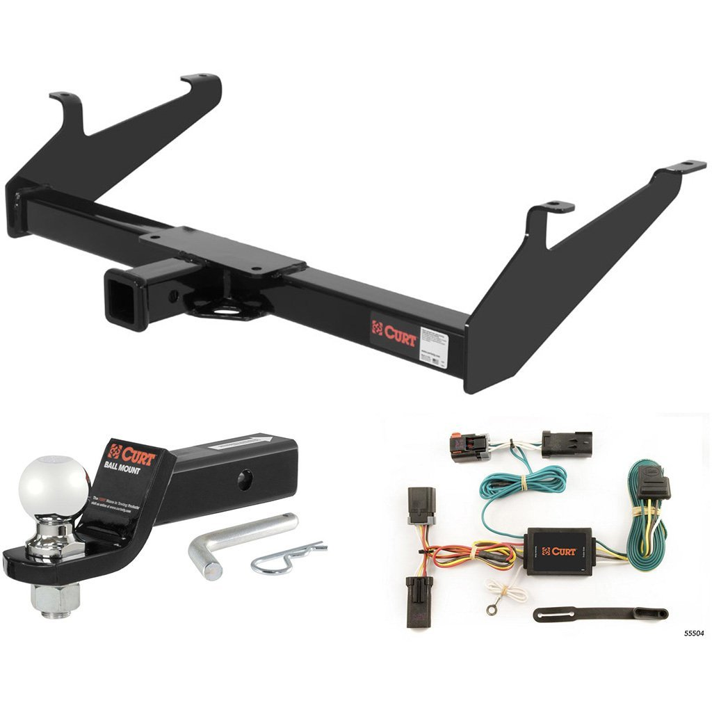 """CURT Class 3 Hitch Tow Package w/ 2-5/16"""" Ball for 2002 Dodge Ram 1500 Short Bed"""
