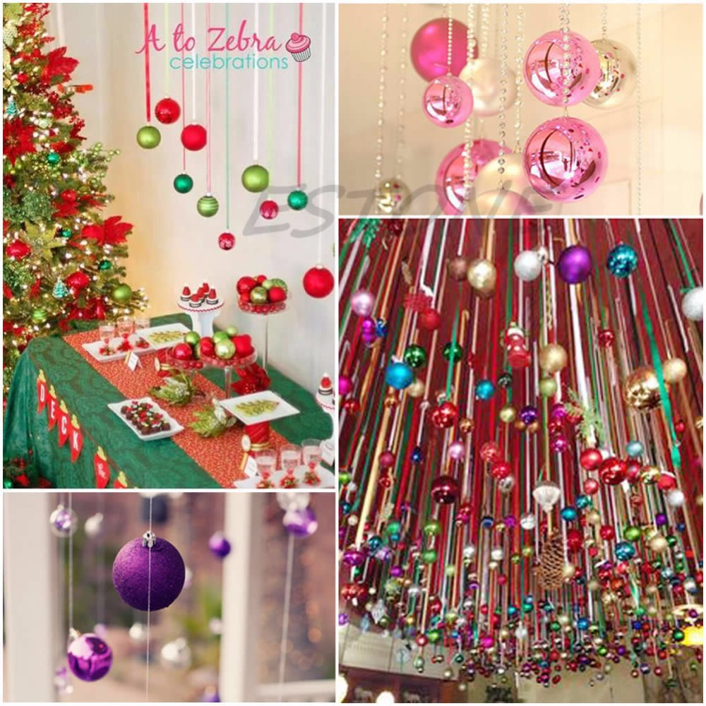 Christmas Tree Decorations Xmas Multi color Balls Baubles Party Wedding Ornament