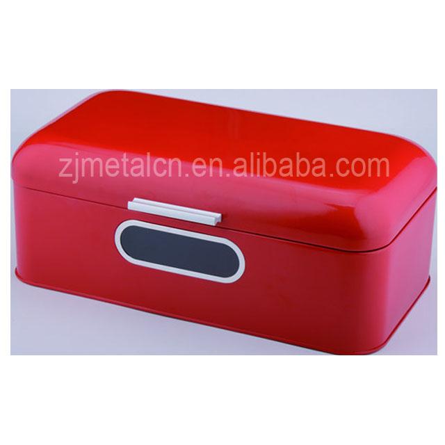Rojo Retro Metal Esquina Caja De Pan Bin Contenedor De ...