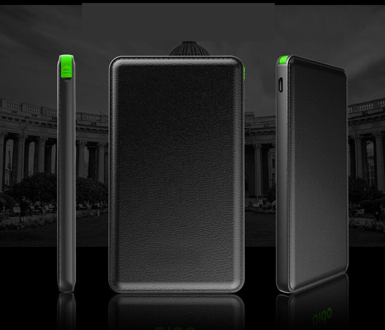 power bank for iphone portable charger leather design portable ABS ultra Slim 10000 mah