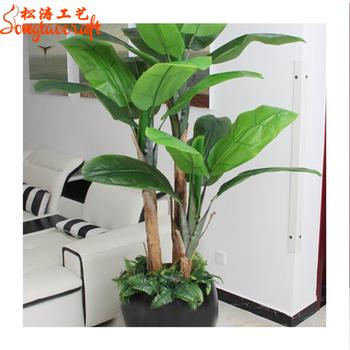2019 Grosir Penjualan Panas Jenis Mini Dekoratif Buatan Pohon Pisang Pot Tanaman Palsu Plastik Pohon Pisang Bonsai Indoor Buy Pohon Pisang
