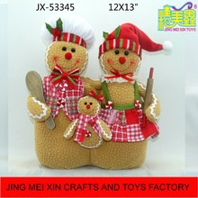 Hot stuffed biscuit human doll family 3 in 1 christmas kitchen toy china factory
