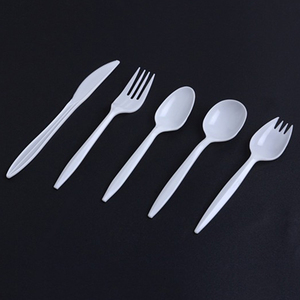 6 In 1 Disposable Plastic Camping Cutlery Set With Napkin Salt Pepper