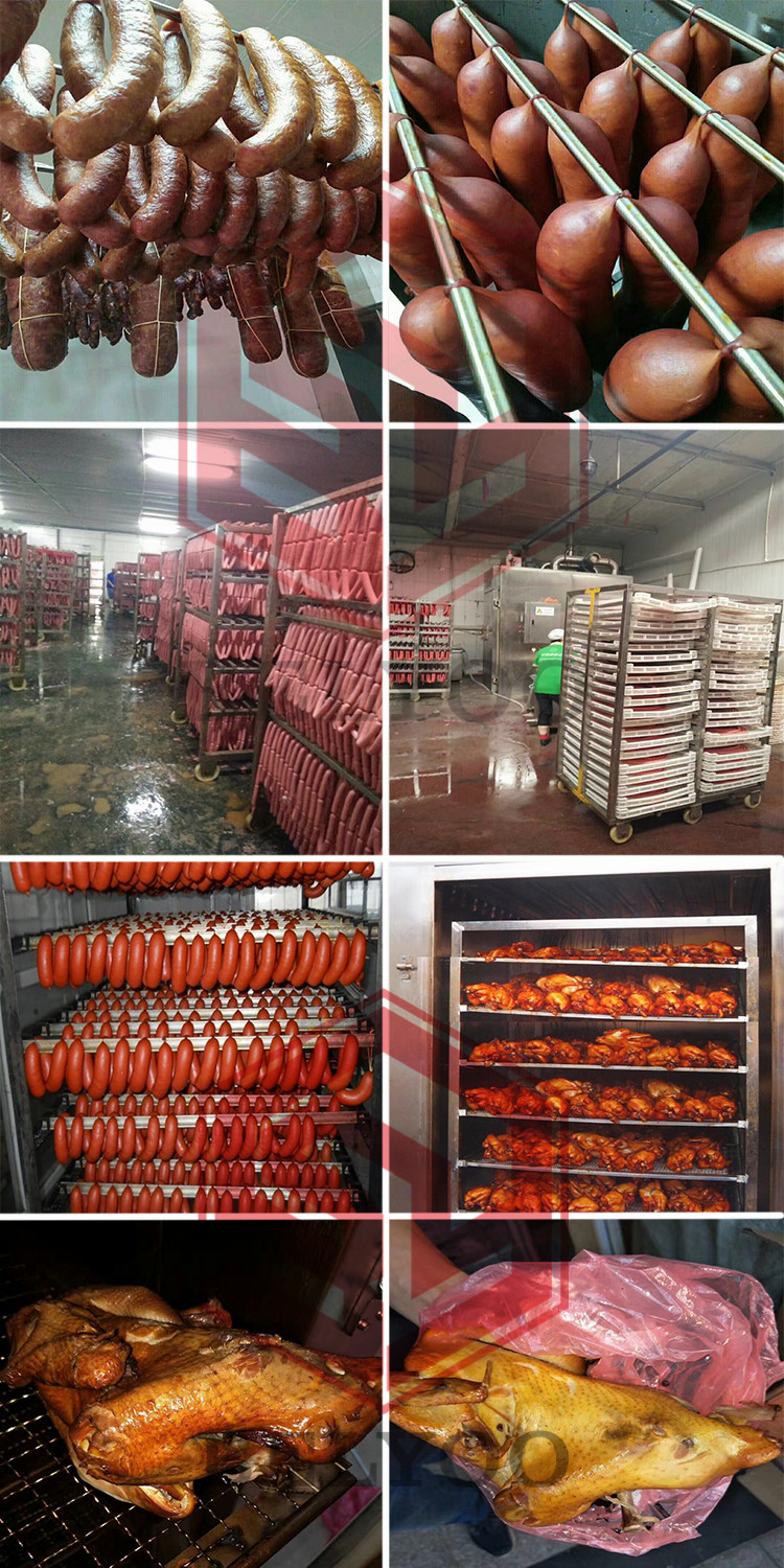 Industrial Commercial sausage\/fish\/catfish\/meat\/chicken\/bacon\/ham\/duck Smokehouse oven machine