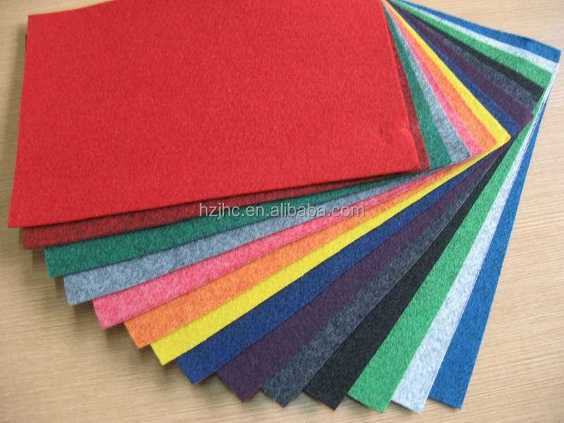 Color nonwoven felt hat materials