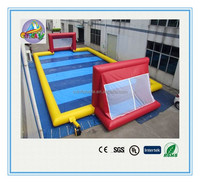 High quality inflatable soap football field, inflatable football pitch, inflatable soccer arena for kids and adults