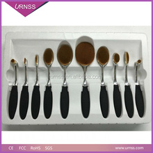 Professinal Rose Gold Oval Toothbrush Foundation Makeup Brush Set
