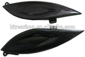 Carbon motorcycle parts under tank covers