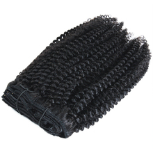 Afro kinky krullend band clip in haar 100% grade 10a, 11a dropshipping ruwe Indian human afro hair <span class=keywords><strong>extensions</strong></span>