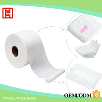 Raw materials for sanitary napkins and diapers hydrophilic acquisition layer SMS SSS hydrophobic Nonwoven Fabric