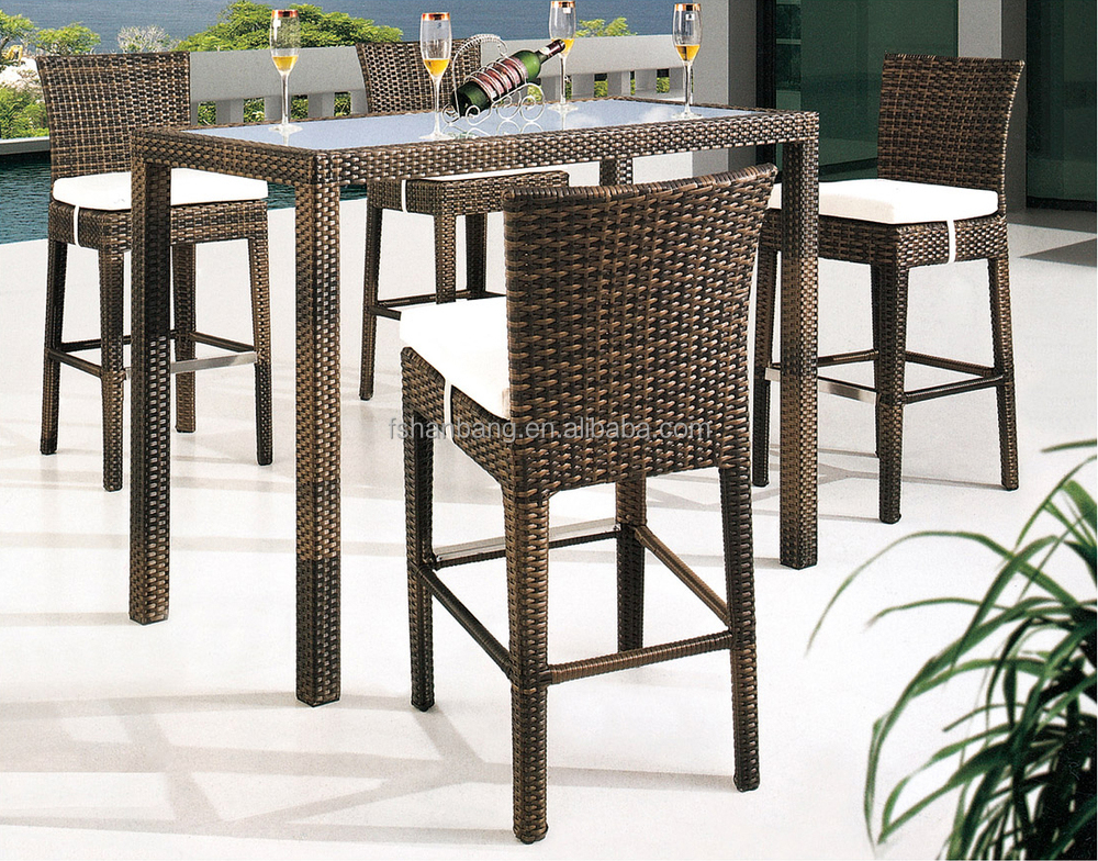 new design hotsale modern synthetic plastic rattan bar stool high chair