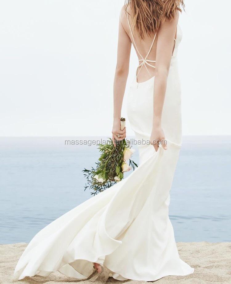 Low Back Mit Seide Rock Isobel Strand Hochzeitskleid Bohmisches