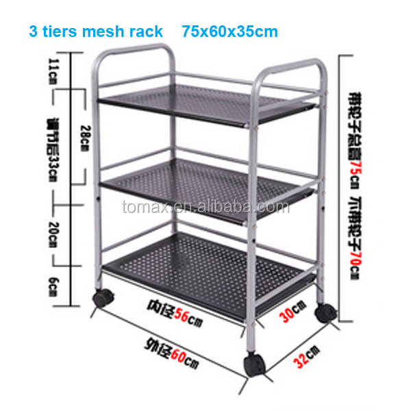 4 Tiers Stainless Steel/Metal Rack