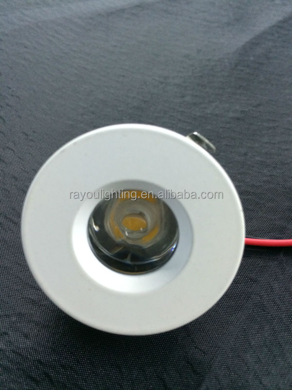 white round 1w led spot 12v 1 watt recessed led mini. Black Bedroom Furniture Sets. Home Design Ideas