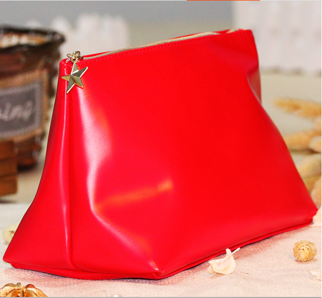 Customized Fashion Pu Convenient Waterproof Cosmetic Bag For Cosmetic Packaging