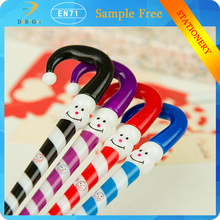 Japan And South Korea Cartoon stationery Funny Umbrella Christmas Gift Clown Snowman Hat Ball Point Pen for promotion