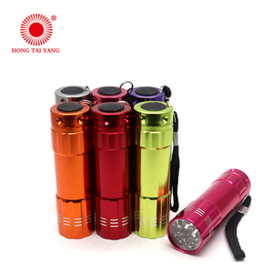 Wholesale aluminum 3AAA battery 9 led torch