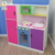 TK010 Large Deluxe Wooden Kitchen Toy With Matching Accessories, Role Play Interactive Wooden Toy