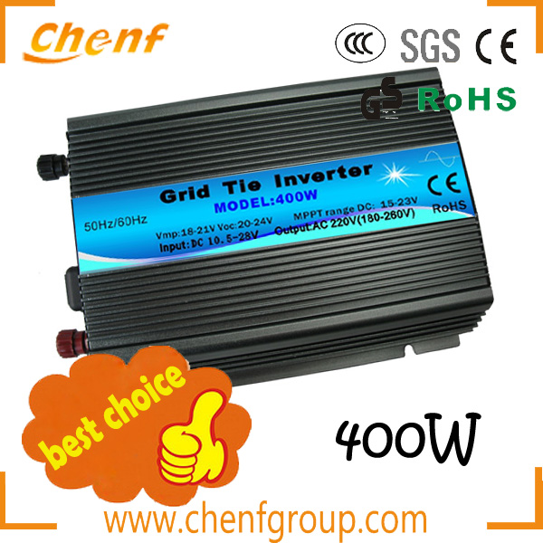 2014 Global hot sales solar <strong>dc</strong> to ac grid tie inverter 400W < 120VAC(90-140VAC) or 230VAC(190-260VAC) >