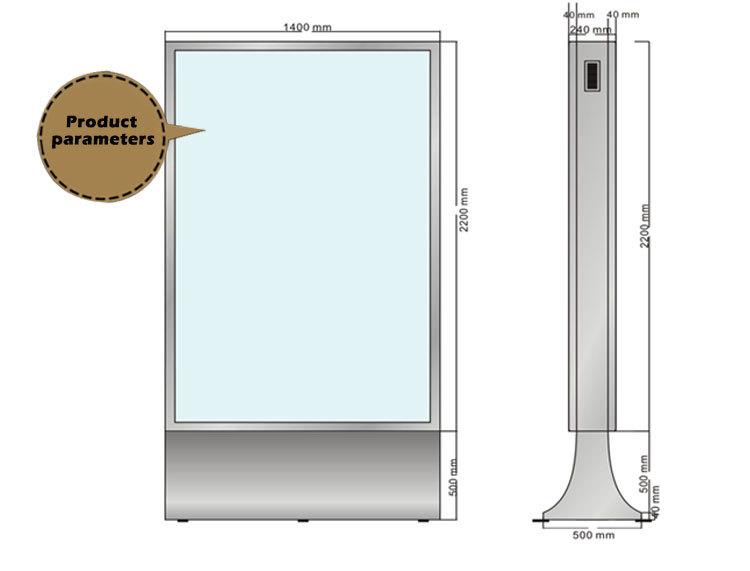 Metal Bed Frame Bracket Tablet Display Stand Solar