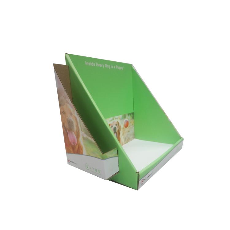 Хорошее качество пользовательский дизайн гофрированного картона настольная бумага дисплей стенд для памфлет со съемным заголовком