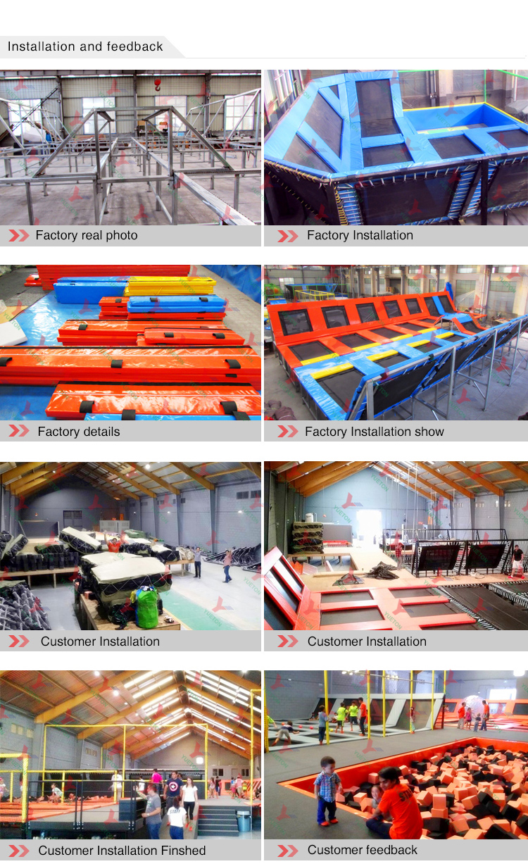 Turn-Key Service Kids Super Best Play Zone Foam Pit Free Jump Trampoline Park