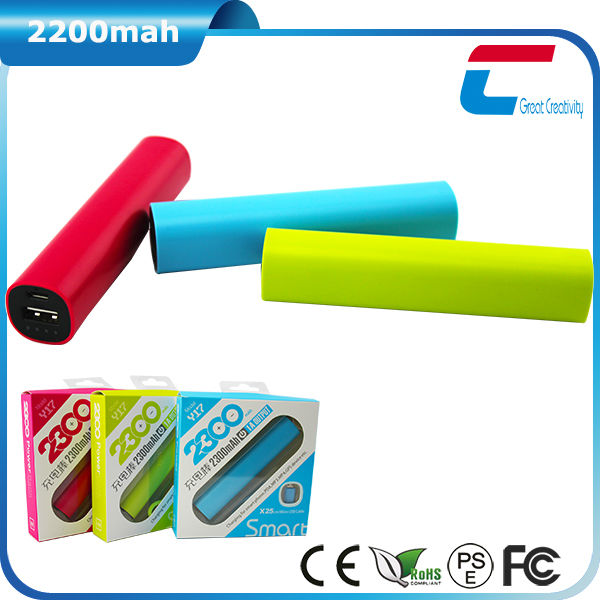 2200mAh Portable Charger/Power Bank for <strong>Electronics</strong>