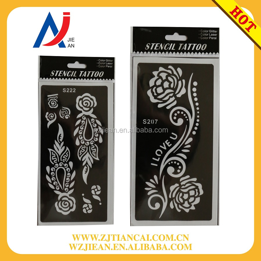 Temporary customized tattoo stencil for body paint OEM factory