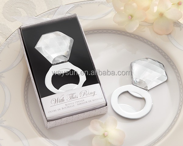 Steady 1 Pcs Diamond Ring Shape Keychain Key Accessories Home Party Favors Wedding Gifts For Guests Wedding Souvenirs Home & Garden