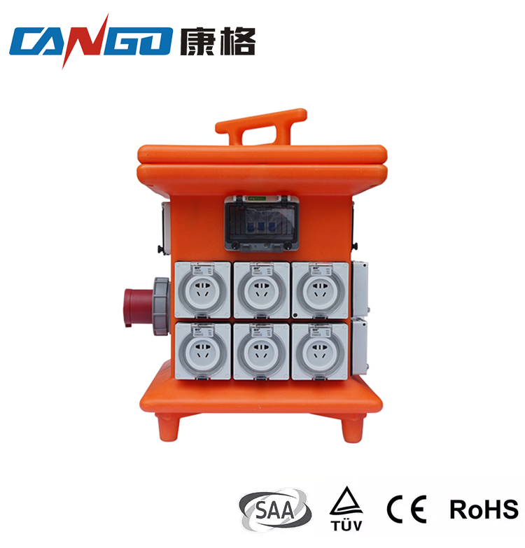 Portable power distribution box, IP56 Distribution MCB board mobile distribution box