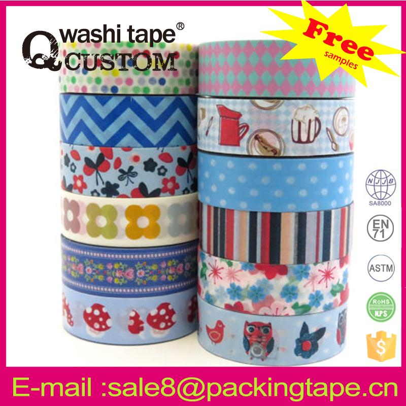 High quality famous brand printed tape wholesale free <strong>sample</strong>