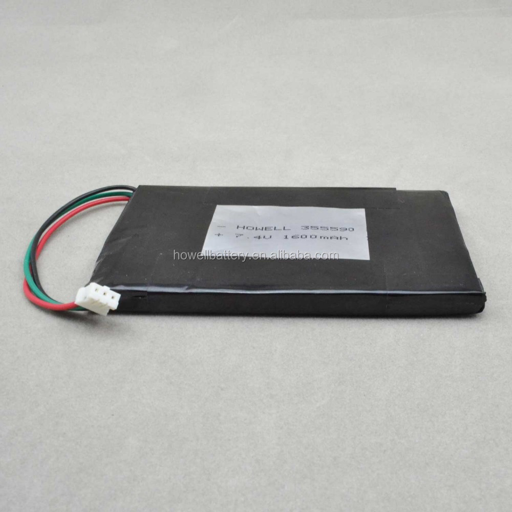 li-po battery 7.4v 1500mah / replacement tablet battery 7.4v