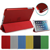 For ipad leather case ctystal back, flip leather case for ipad mini 1/2/3 smart cover