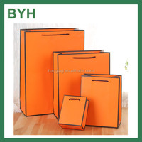 Orange Birthday Gift Packaging Portable Paper Bags