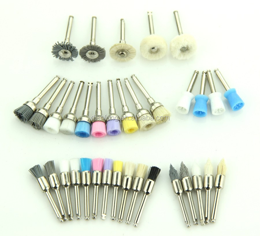 colorful hard nylon goat bristle dental polishing latch type brush
