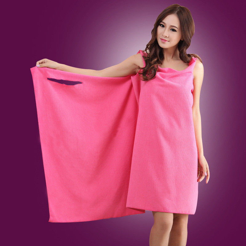 Fashion Variety Colors Worn Women Adult Kids Beach Towels Absorbent Magic Microfiber Bath Towel Dress