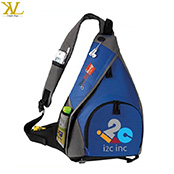 Customized logo shoulder sling bag, travel bicycle backpack with one strap