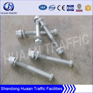 Nut and Bolts for Roadway Safety Barrier