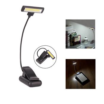 Novelty Black Cob Night Clip Clamp Reading Light Flexible Led Table Lamp Shade Desk Lighting