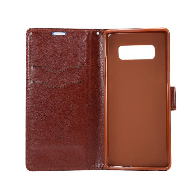 2017 new PU leather +TPU Card slots cell phone case for Samsung Galaxy Note 8
