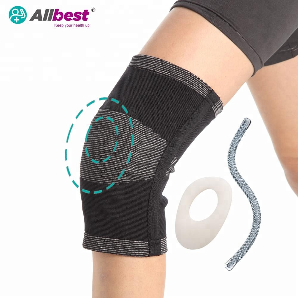 Bamboo Charcoal Knee Stabilizer w. Gel Pad & spiral stay