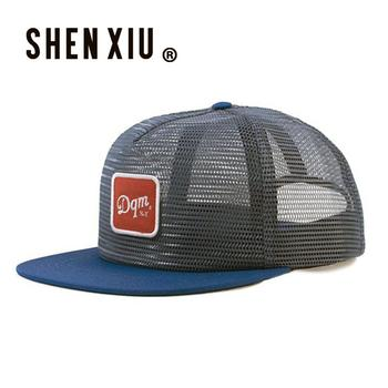 Low profile mens retro custom all mesh embroidered flat bill mesh snapback  hat 56a6f237024