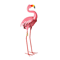 Wholesale Garden Spring Color Shining Metal Flamingo Home Art Decor