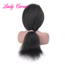 Kinky Straight raw Indiase tempel haar siliconen full lace pruik