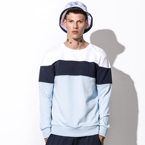 China supplier customized crew neck cut and sew hoodie