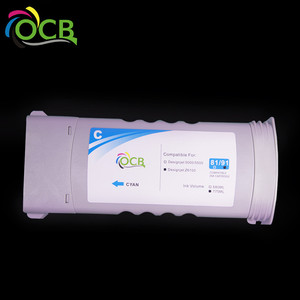 ocbestjet Bulk buy from China compatible ink cartridge for HP 81 for HP 5000 5000PC 5500 5500ps printer