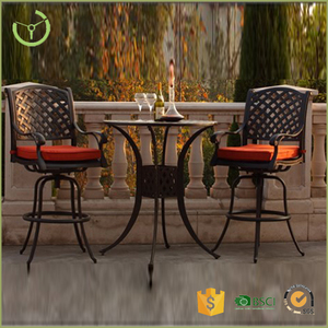 Hot Sale Patio Garden Cast Aluminium Counter Height Dining Table Set